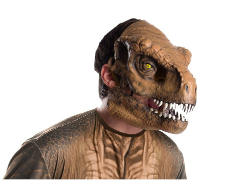 Masque de T-Rex pour adulte avec mâchoire mobile