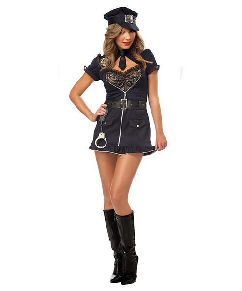 Costume Policière Candy pour Femme
