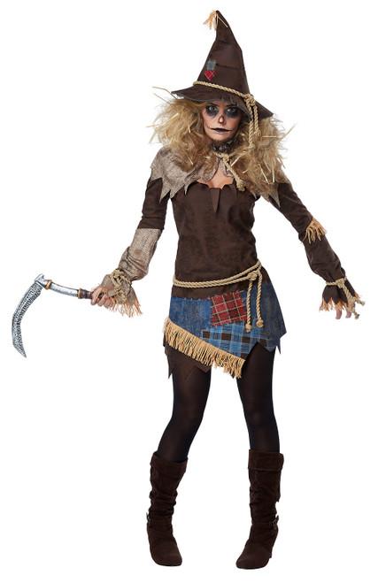 Costume d'Effrayant Epouvantail pour Femme