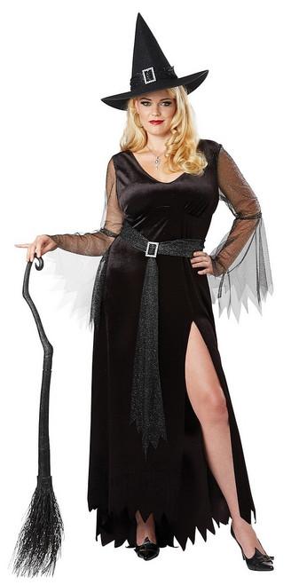 Costume de Sorcière Noire Taille Plus