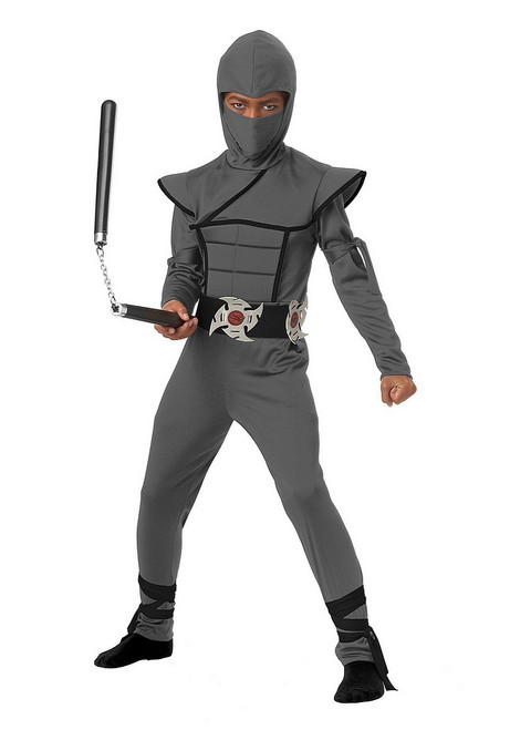 Costume de Ninja Gris Discret pour Enfant