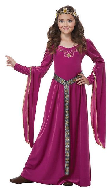 Costume de Princesse Médiévale Pour Fille