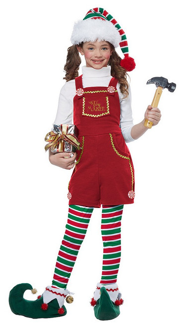 Costume de Lutin Fabriquant de Jouet pour Fille