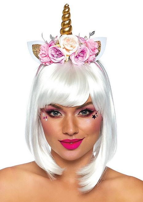 Serre-tête de  Licorne Fée à Fleurs