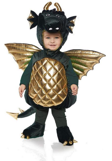 Costume de Dragon en peluche Vert