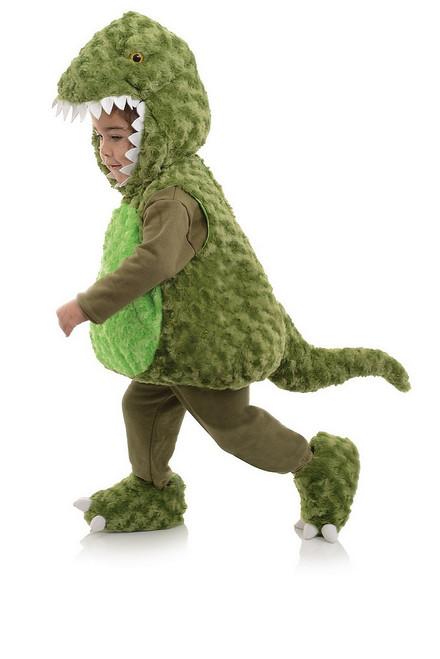 Costume de T-Rex en Peluche Vert Pour Bambin