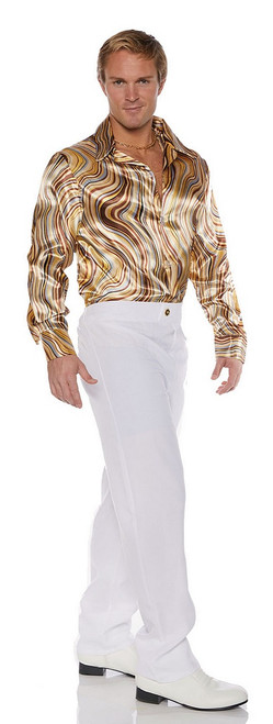Chemise Disco Tourbillons Années 70