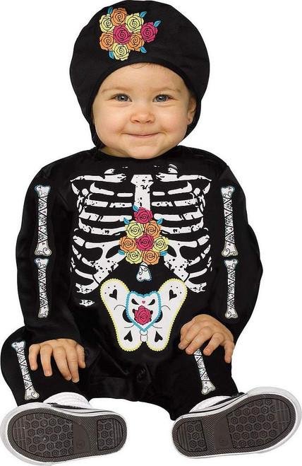 Costume de Bébé Squelette Jour des Morts