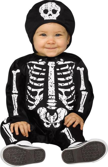 Costume de Bébé Squelette Blanc