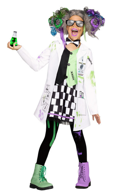 Costume de Scientifique Folle pour Enfant