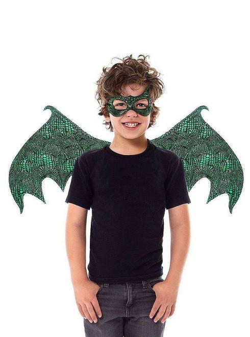 Set Dragon Vert Ailes & Masque