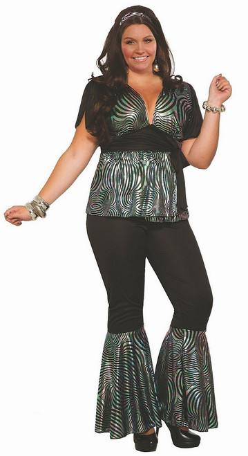 Costume Danseuse Disco pour Femme Taille Plus