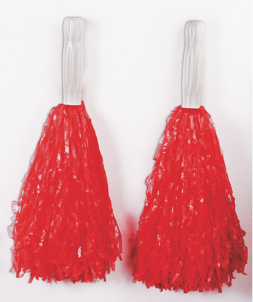 Pompons en Plastique rouges