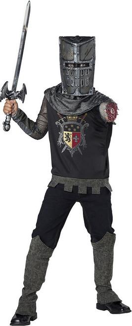 Costume de Chevalier Noir Bras Coupé pour Enfant