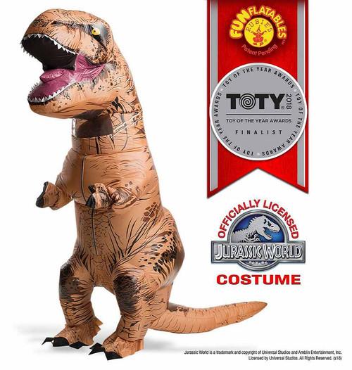 Costume de T-Rex pour Adulte Gonflable avec Boite à Son