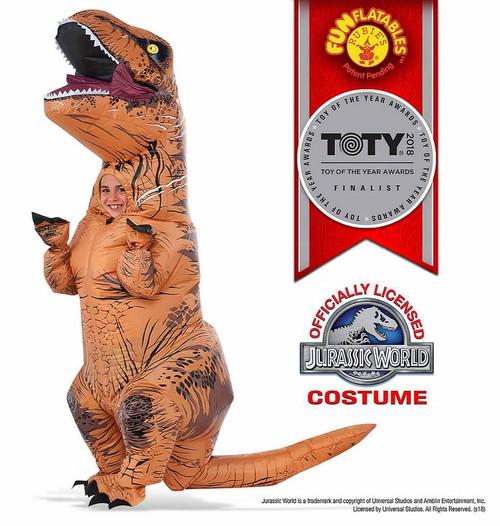 Costume de T-Rex pour Enfant Gonflable avec Boite à Son