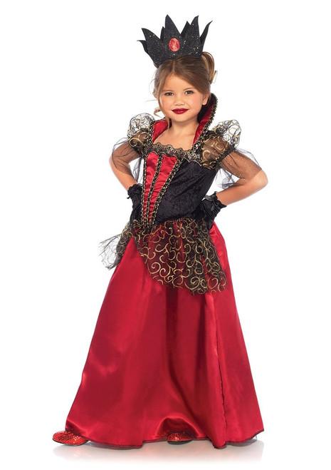 Costume de Reine de Cœur Deluxe pour Fille