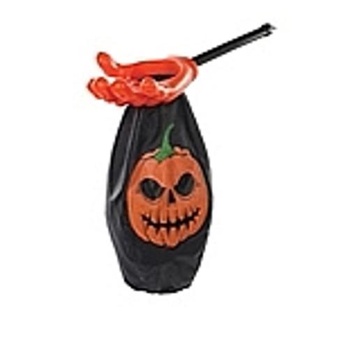 Pochette Halloween Citrouille Orange et Noire