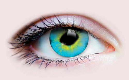 Lentilles de Contact Bleues Strange