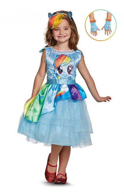 Costume de Rainbow Dash avec Gants pour Fille