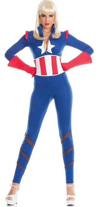 Captain America Costume Femmes