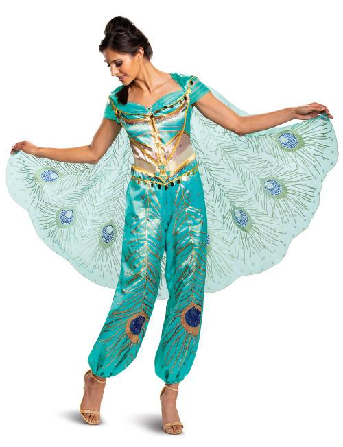 Costume Jasmine Turquoise Deluxe pour Adulte Aladdin