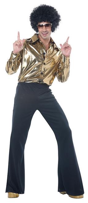 Costume de Roi du Disco des Années 70 Taille Plus