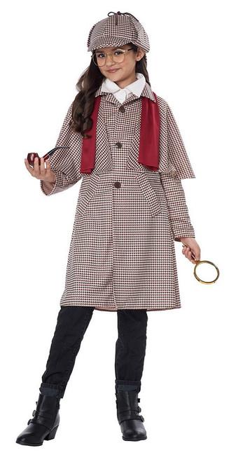 Costume de Détective Anglais Sherlock Holmes pour Fille