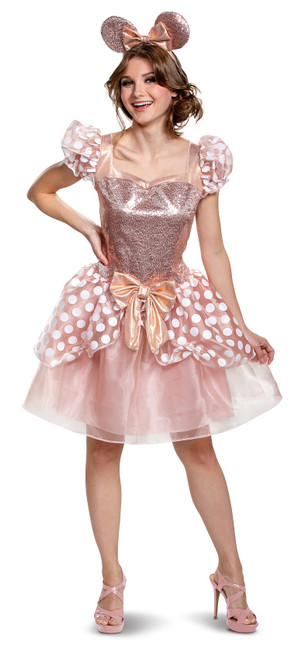 Costume pour Adulte Minnie Mouse Or Rose