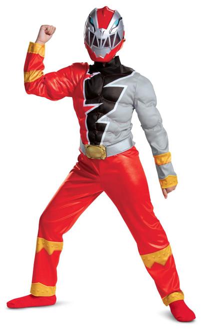 Costume de Ranger Rouge Dino Fury Muscle Pour Enfants
