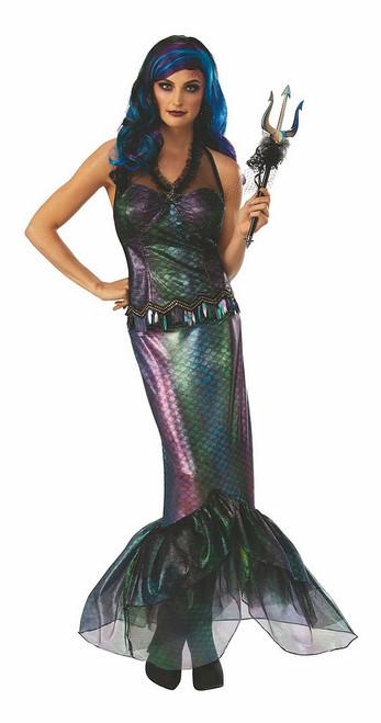 Costume de Sirène Reine des Mers Ténébreuses
