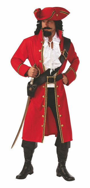 Costume de Capitaine Pirate Rouge
