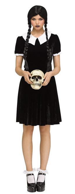 Costume de ille Gothique Wednesday pour Femme