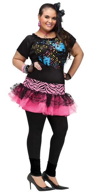 Costume Femme Pop Party Plus des années 80