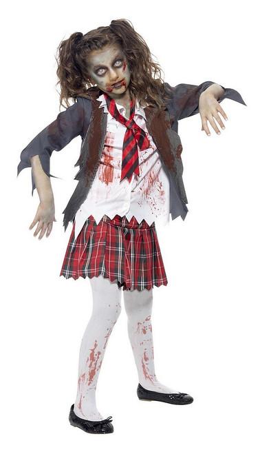 Costume de d%u2019Écolière Zombie pour Fille