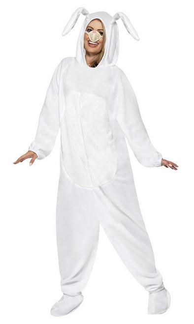 Costume de Lapin Blanc à Capuche Femme