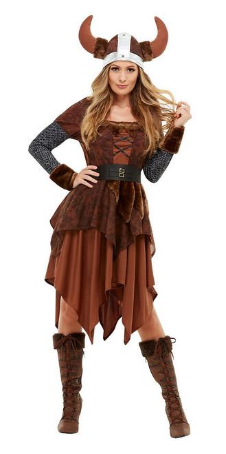 Costume de Reine Viking Barbare Femme