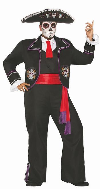 Costume d'Homme Mariachi du Jour des Morts
