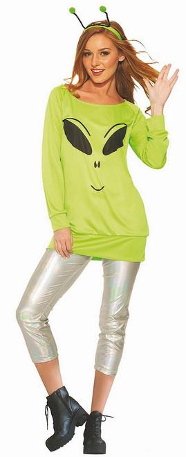 Costume de Femme Extraterrestre Dans La Lune