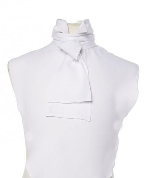 Devant de Chemise avec Cravate Blanche