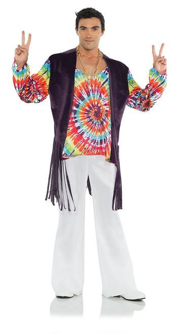 Costume T-shirt Tie Dye et Veste des Années 60