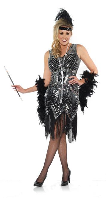 Costume Robe à Perles Platine