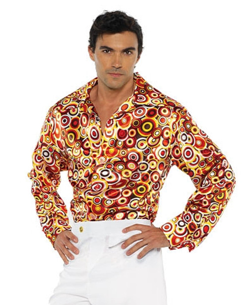 Chemise Disco Années 70 avec Cercle