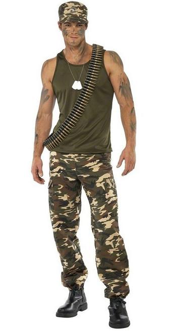 Costume pour Hommes de Camouflage Kaki