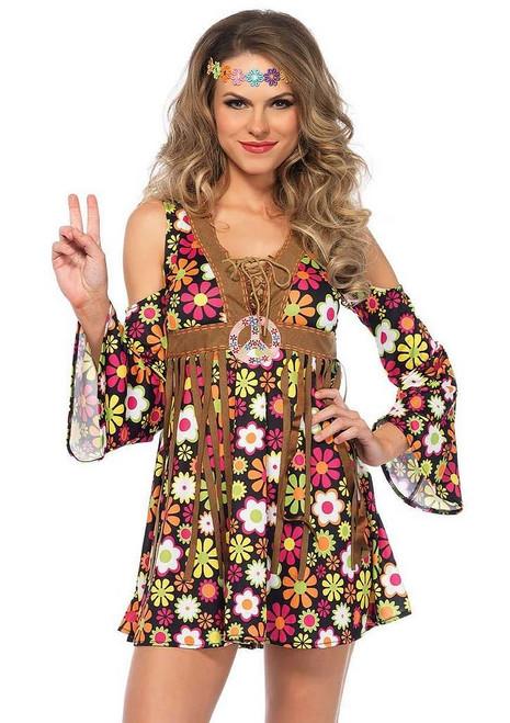 Costume de Hippie aux Fleurs pour Femmes