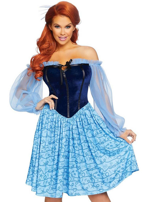 Costume de Femme Paysanne Bleue