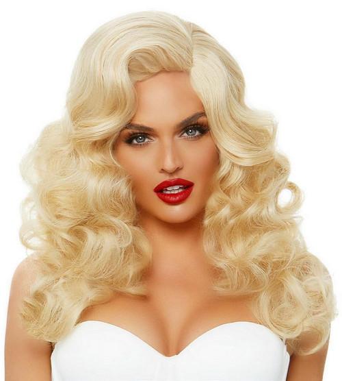 Longue Perruque Bouclée Bombe Blonde de 20 Pouces