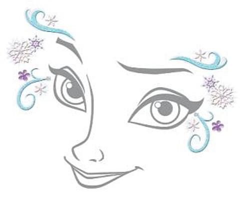 Sticker Visage Elsa Reine Des Neiges
