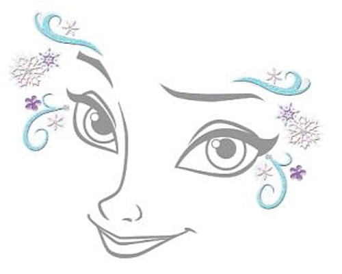 Sticker Visage Elsa Reine Des Neiges