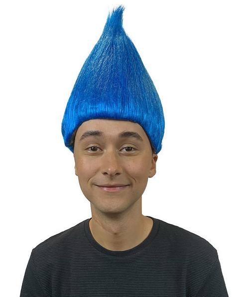 Perruque De Troll Bleu Cobalt Deluxe